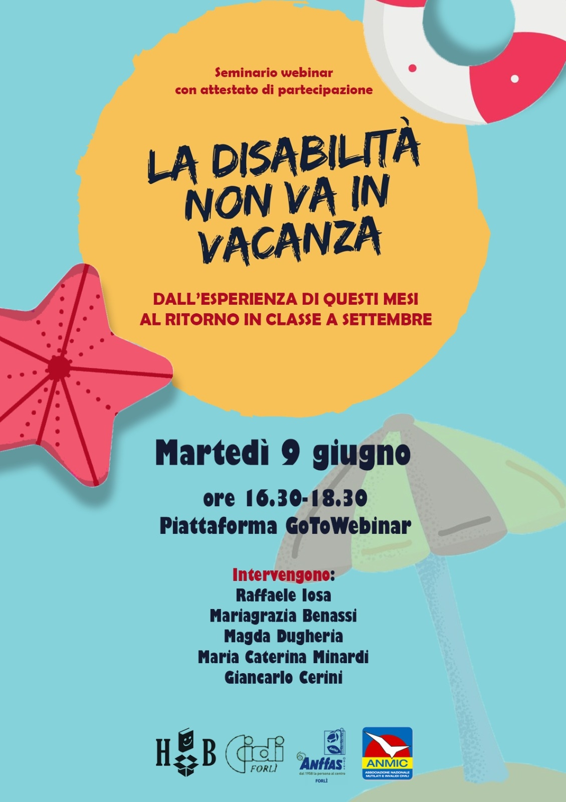 disabilita non va in vacanza